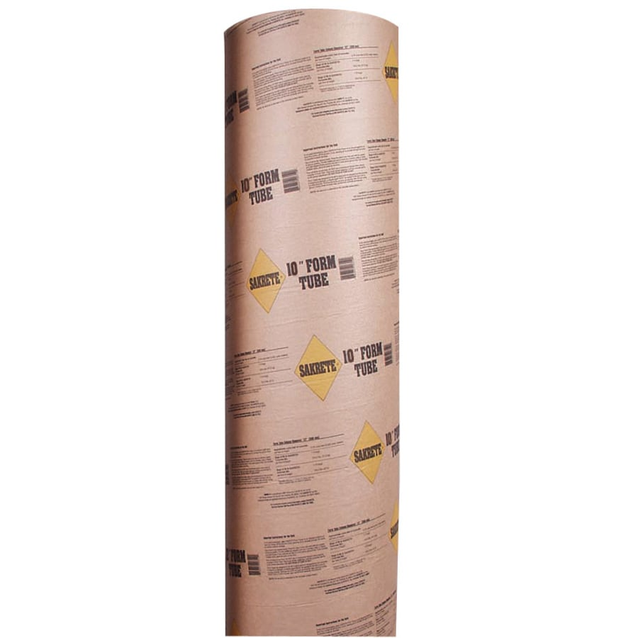 Sakrete (Common: 10-in; Actual: 9.625-in) 48-in Concrete Tube Form