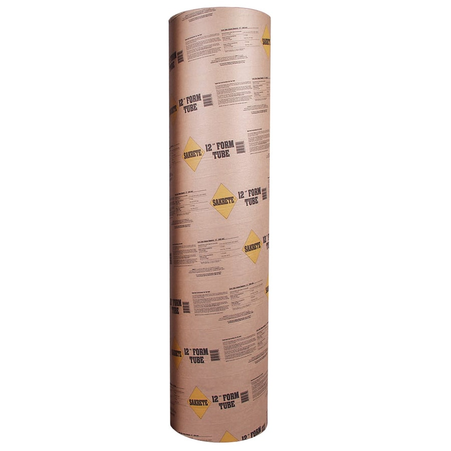 Sakrete (Common: 12-in; Actual: 11.625-in) 48-in Concrete Tube Form