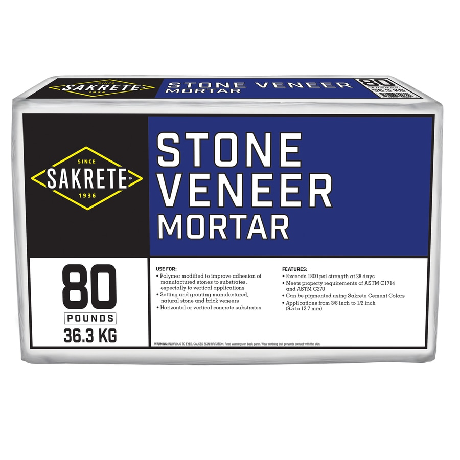 Sakrete Stone Veneer 80-lb Gray Type-N Mortar Mix