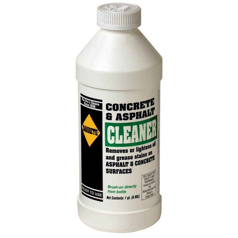 Shop sakrete 32 fl oz masonry cleaner for asphalt concrete for Indoor concrete cleaner