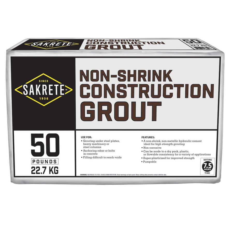 Non-Shrink Construction Grout 50-lb Gray Concrete Mix