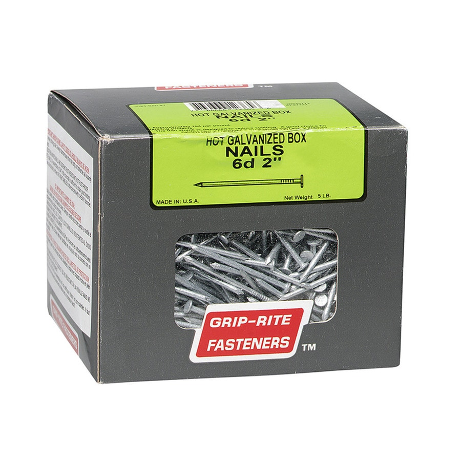 5-lb 6D 2-in Hot-Dipped Galvanized Smooth Box Nails
