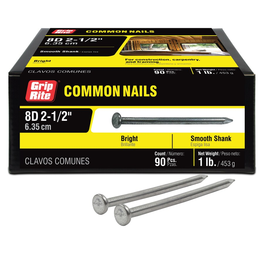 1-lb 10.25-Gauge 2.5-in Bright Steel Smooth Nails