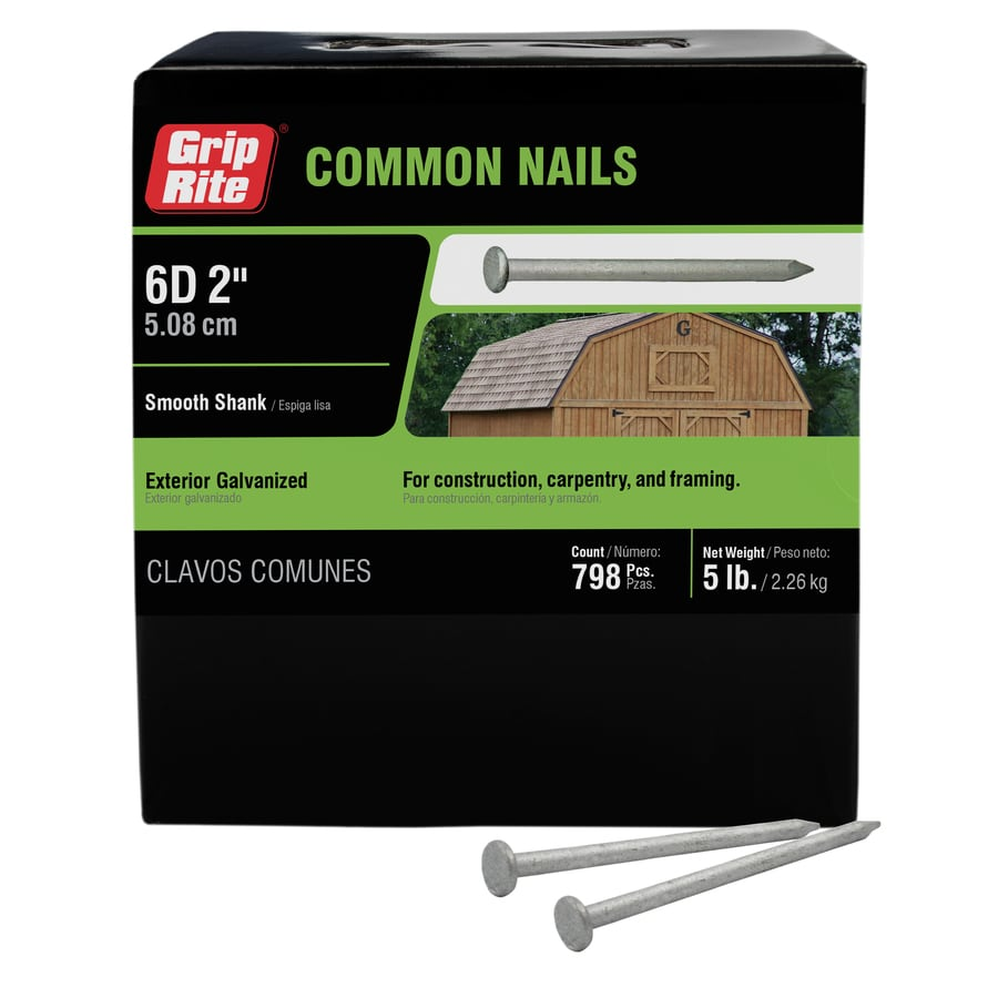 5-lb 12-Gauge 2-in Hot-dipped Galvanized Smooth Nails