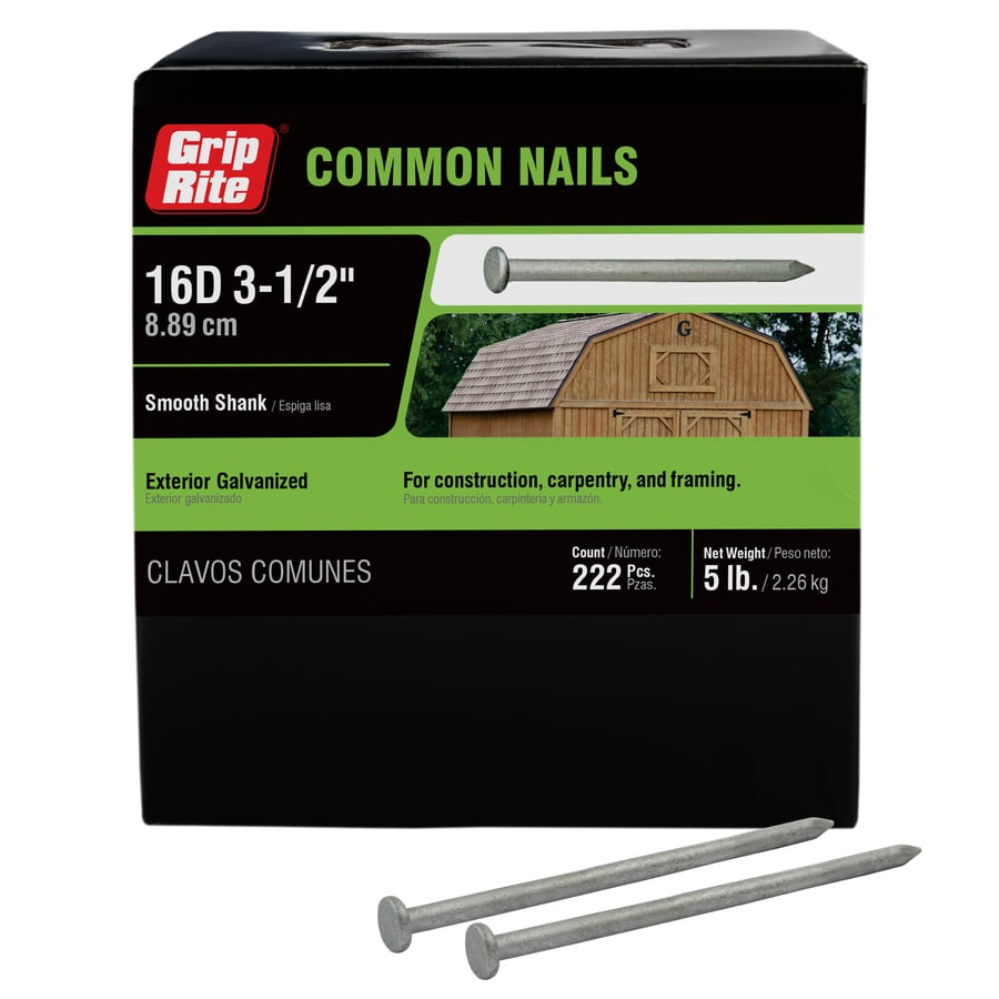 5-lb 8-Gauge 3.5-in Hot-Dipped Galvanized Smooth Nails
