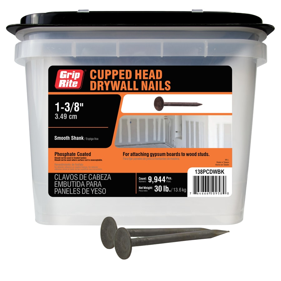 5-lb 13-Gauge 1.375-in Black Phosphate Smooth Drywall Nails
