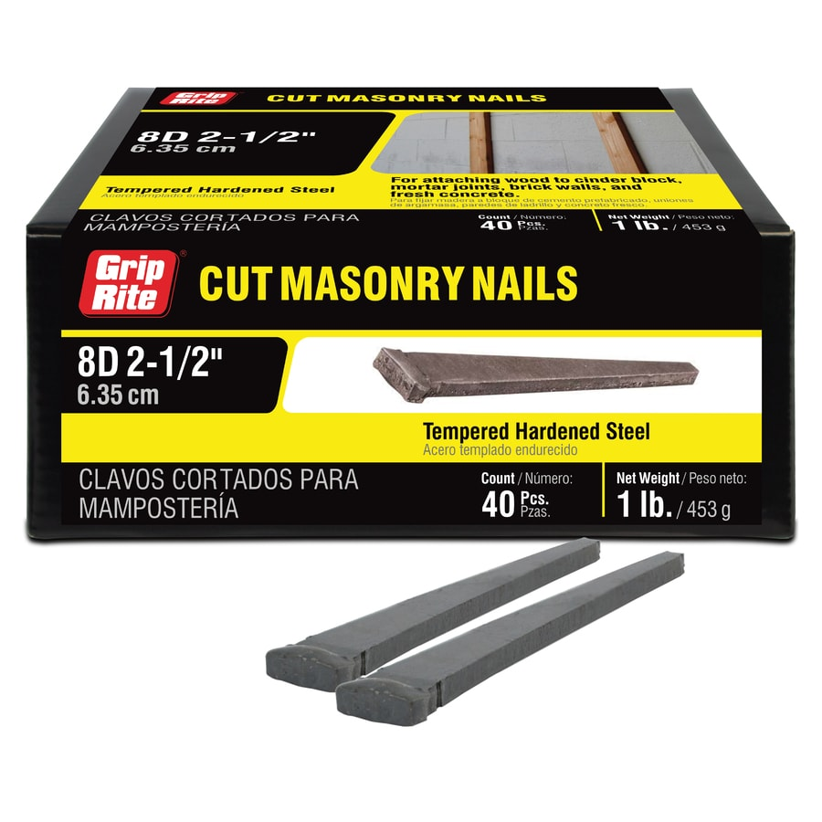 Grip-Rite 1-lb 9-Gauge 2.5-in Bright Steel Masonry Nails