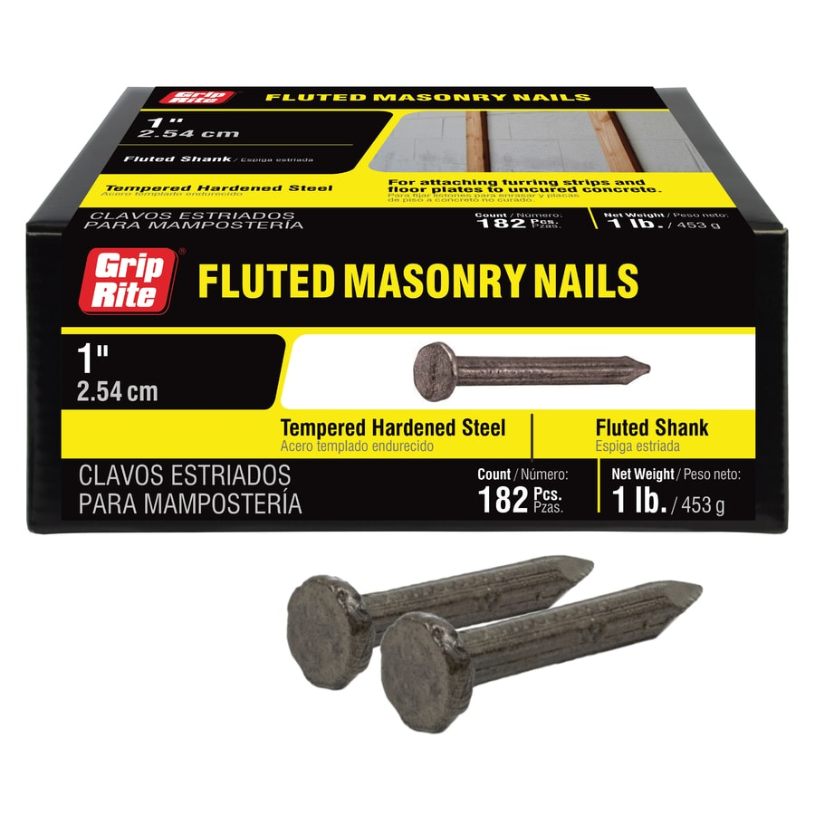1-lbs 9-Gauge 1-in Bright Steel Masonry Nails