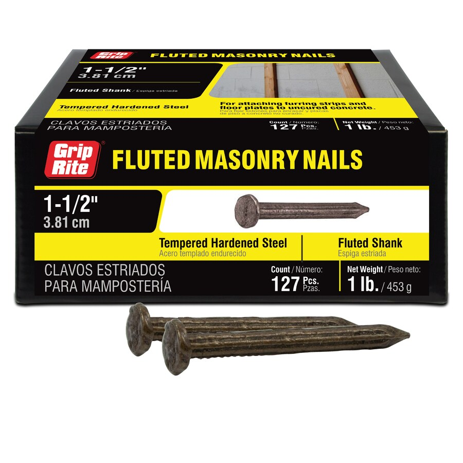 1-lbs 9-Gauge 1-1/2-in Bright Steel Masonry Nails