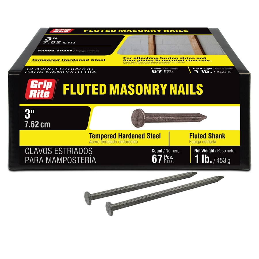Grip-Rite 1-lb 9-Gauge 3-in Bright Steel Masonry Nails