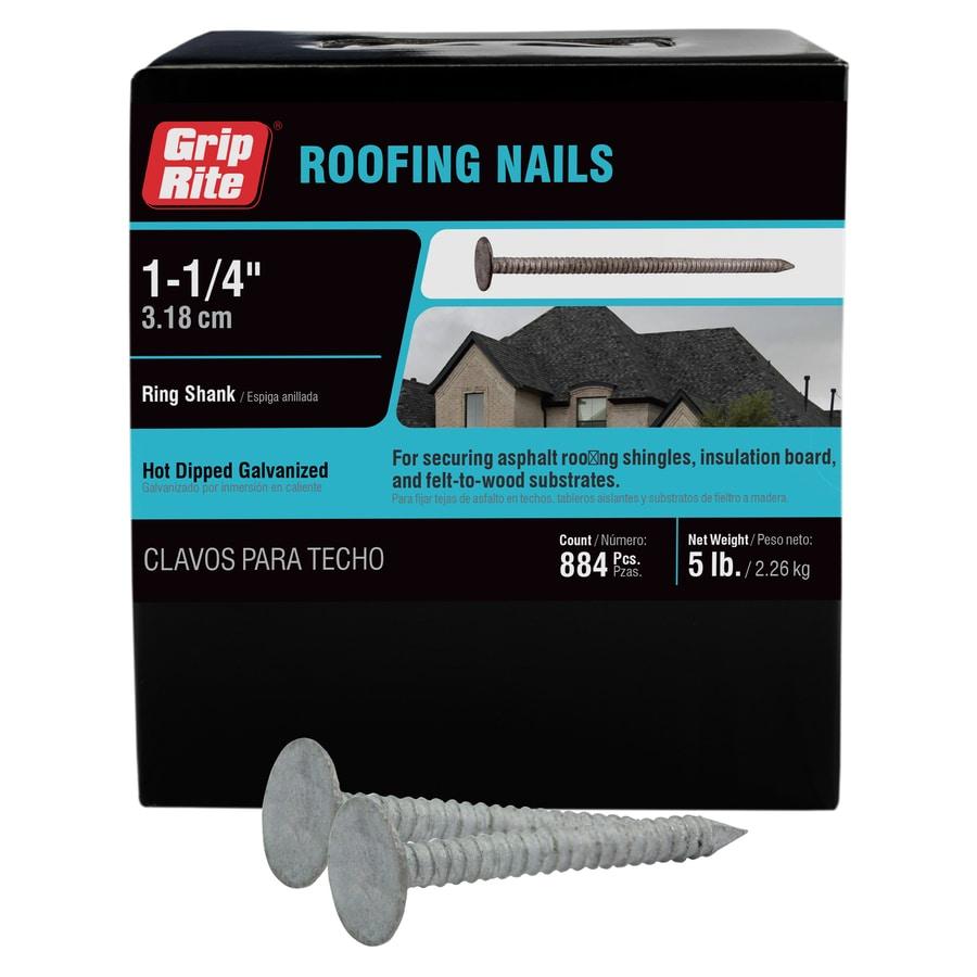 Grip-Rite 5-lb 11-Gauge 1.25-in Steel Roofing Nails