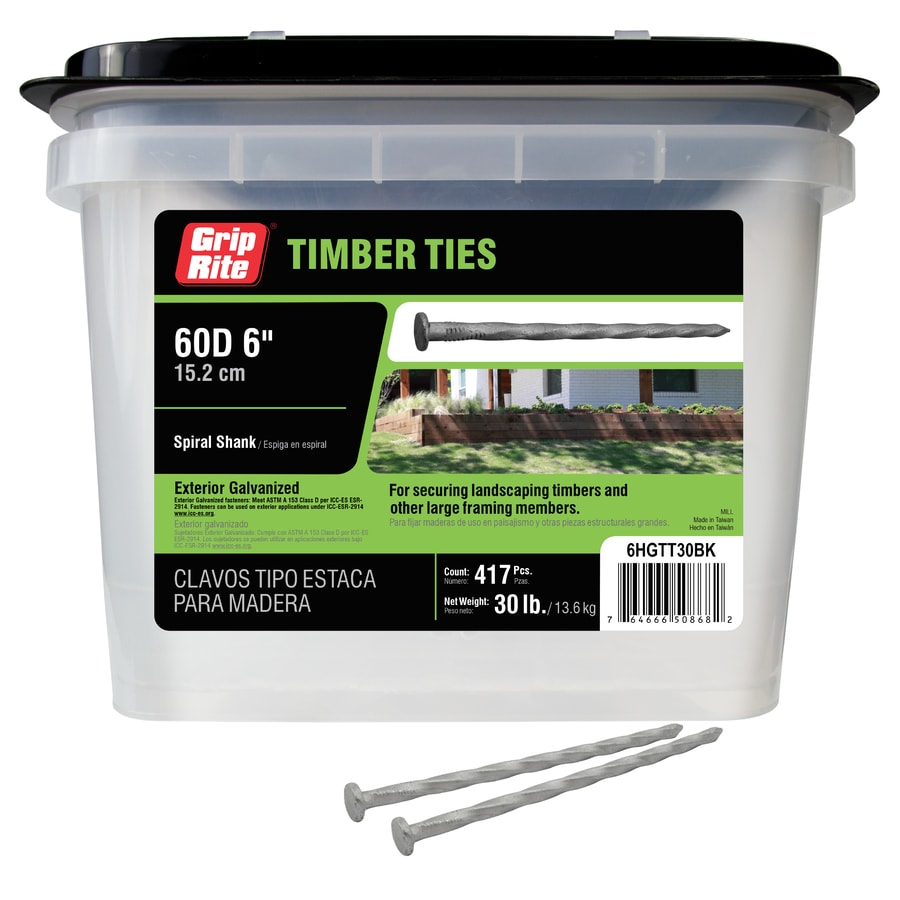 Grip-Rite 30-lb 6-in x 0.25-in Timber Tie Spikes