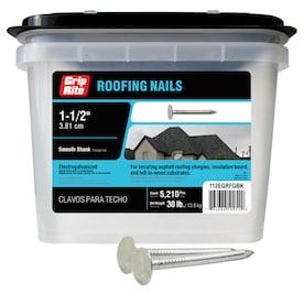 Grip-Rite 11-Gauge Electro-Galvanized Steel Roofing Nails (30-lbs)