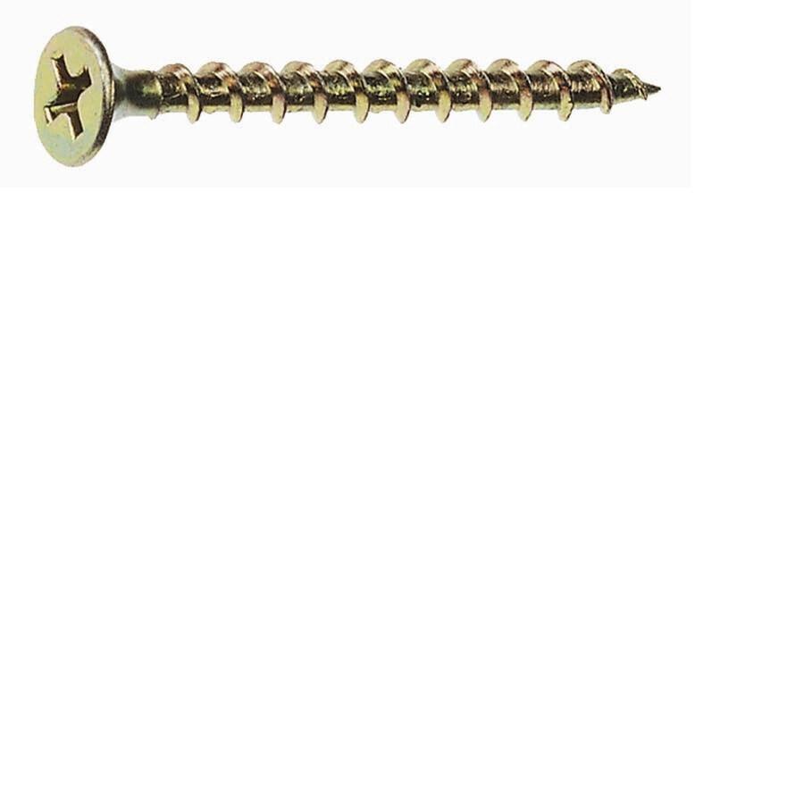 Grip-Rite 25-lb #8 x 2.5-in Bugle-Head Yellow Zinc Interior Wood Screws