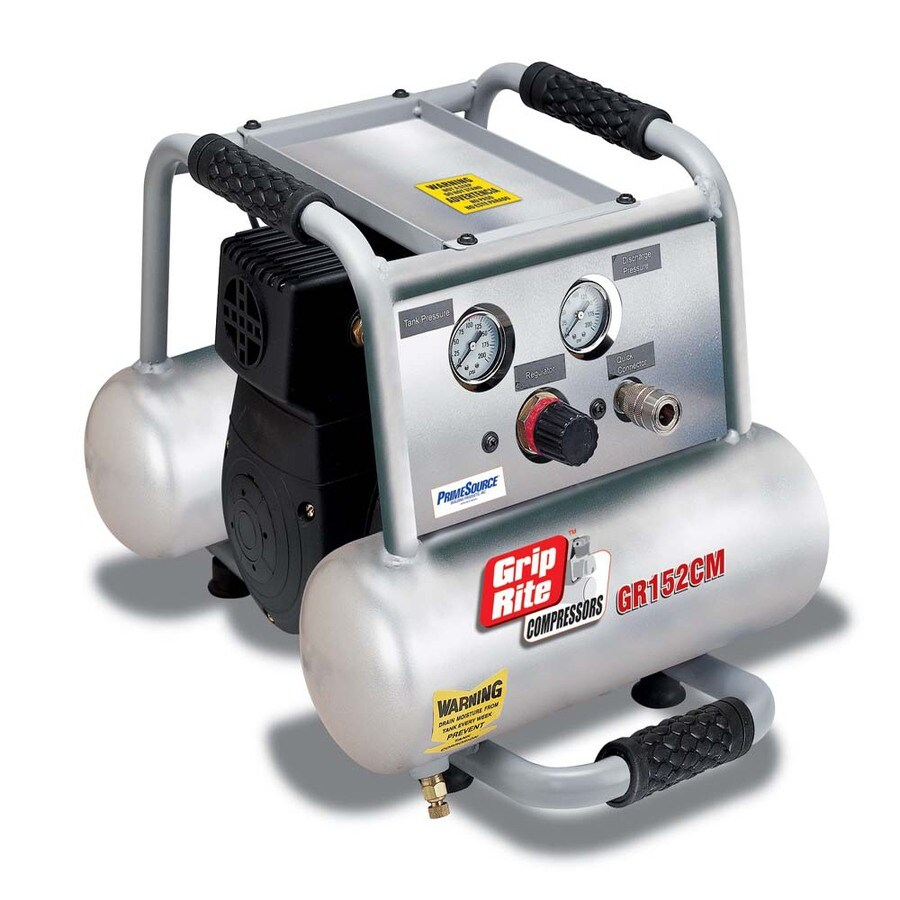 Grip-Rite 2-Gallon Portable 150-PSI Electric Twin Stack Air Compressor