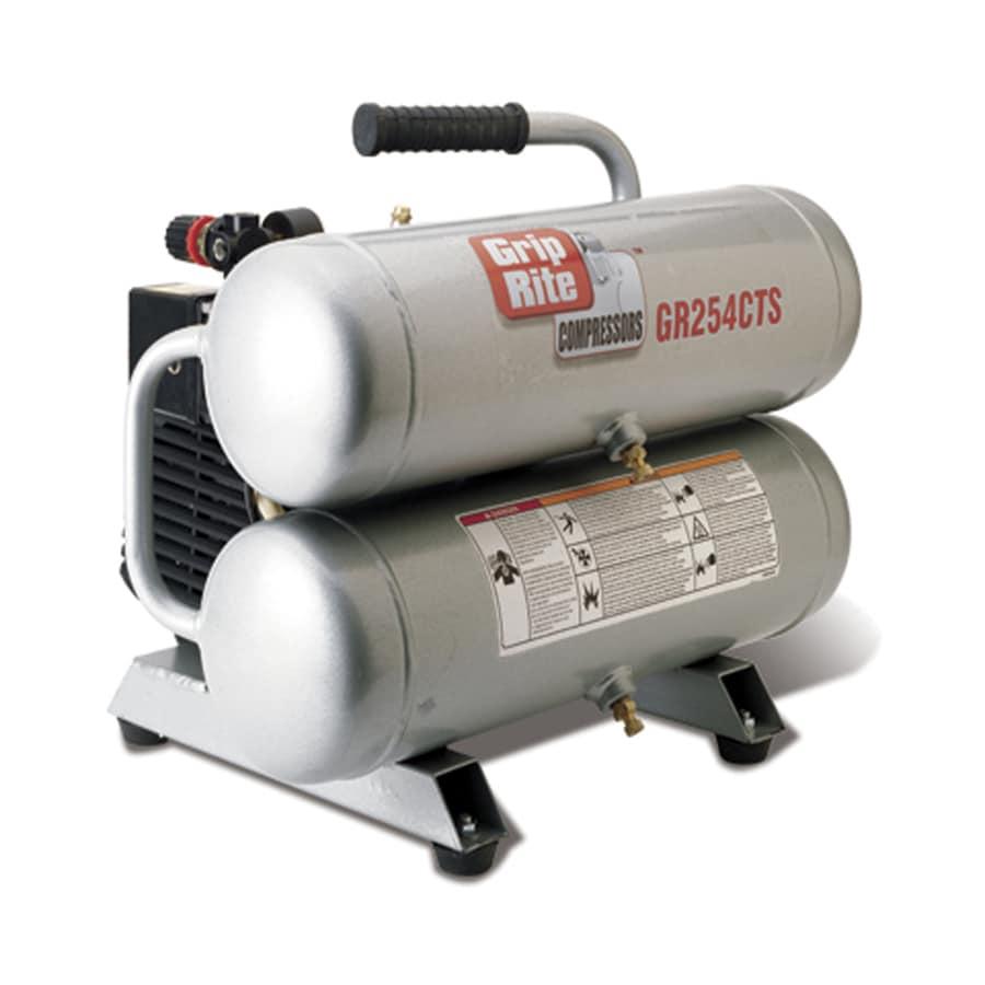 Grip-Rite 4.3-Gallon Portable 135-PSI Electric Twin Stack Air Compressor