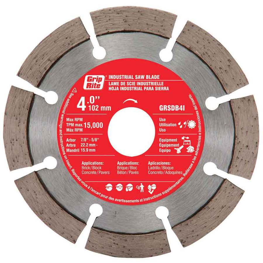 Grip-Rite 4-in Wet or Dry Segmented Diamond Circular Saw Blade