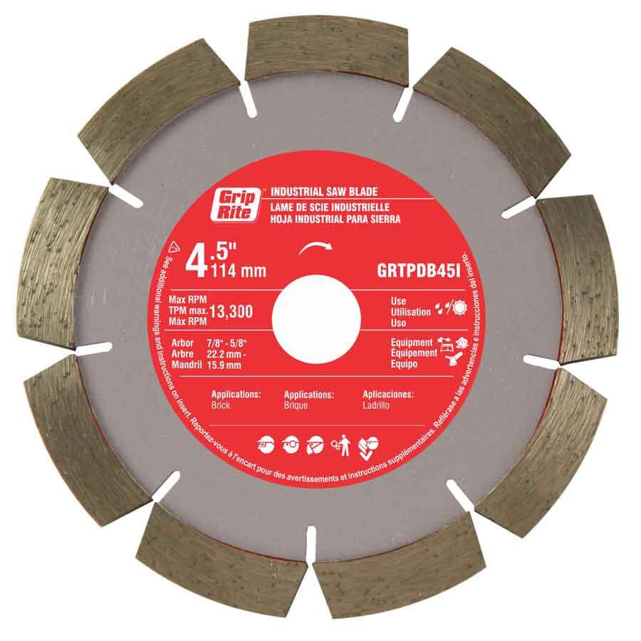 Grip-Rite 4-1/2-in Wet or Dry Segmented Diamond Circular Saw Blade