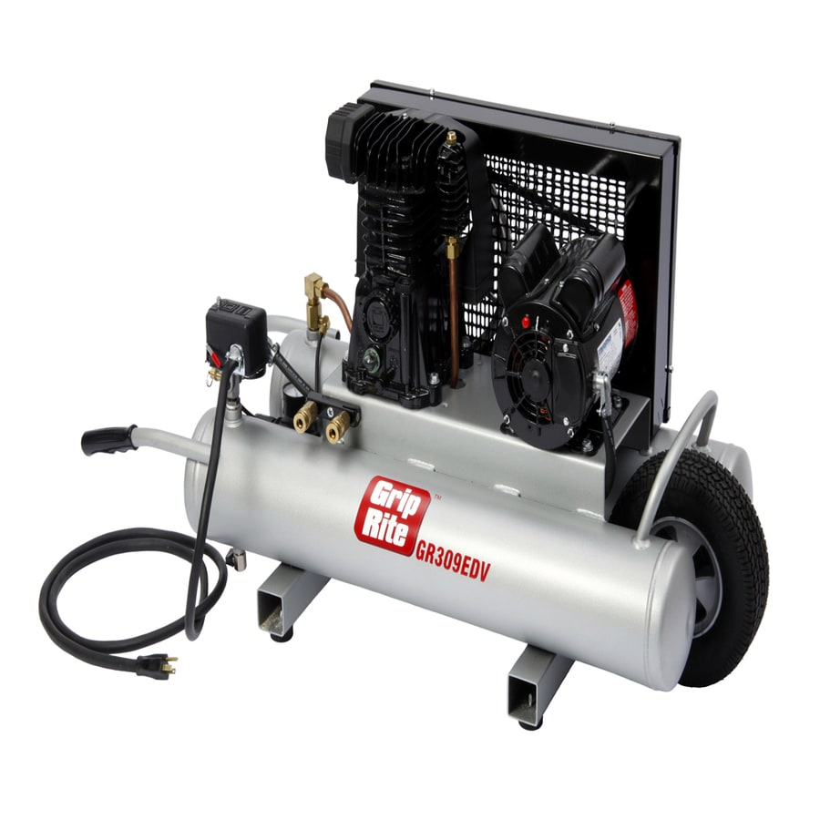 Grip-Rite 9-Gallon Portable Electric Horizontal Air Compressor