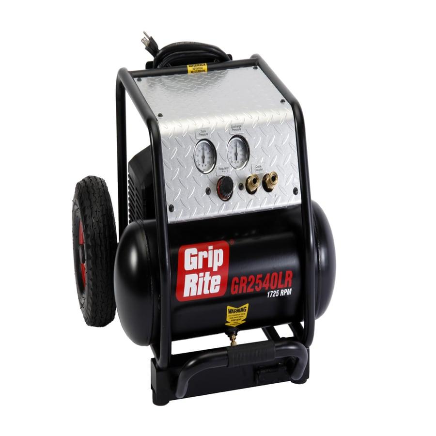 Grip-Rite 4-Gallon Portable Electric Horizontal Air Compressor