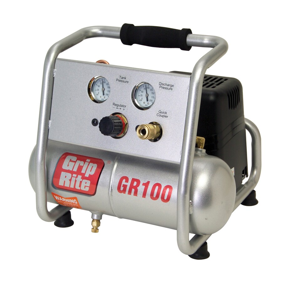 Grip-Rite 1-Gallon Portable Electric Horizontal Air Compressor