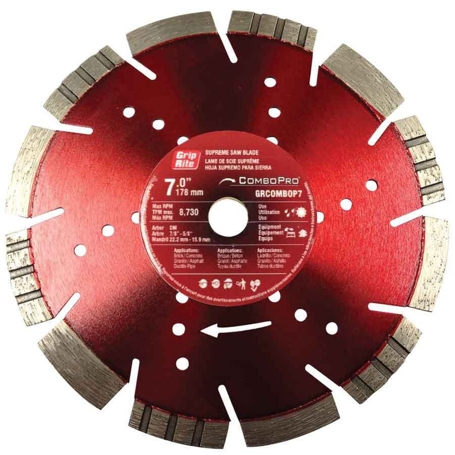 Grip-Rite 7-in Wet or Dry Segmented Diamond Circular Saw Blade