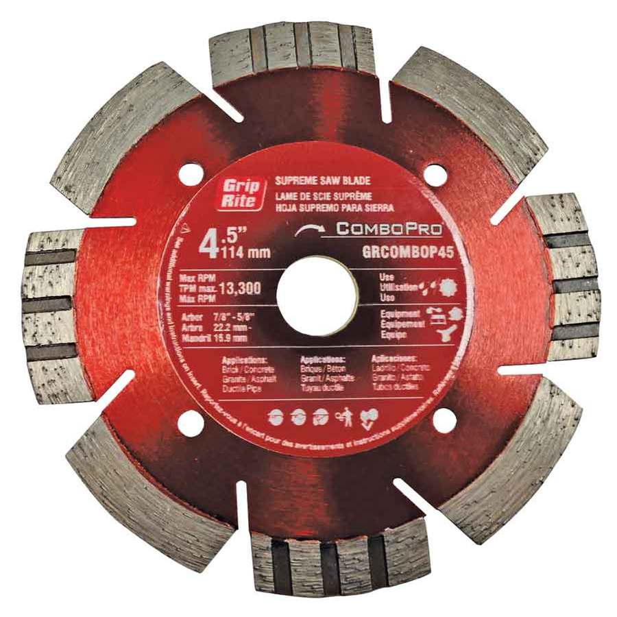 Grip-Rite 4-1/2-in Wet or Dry Segmented Diamond Circular Saw Blade