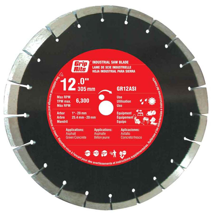 Grip-Rite 12-in Wet or Dry Segmented Diamond Circular Saw Blade