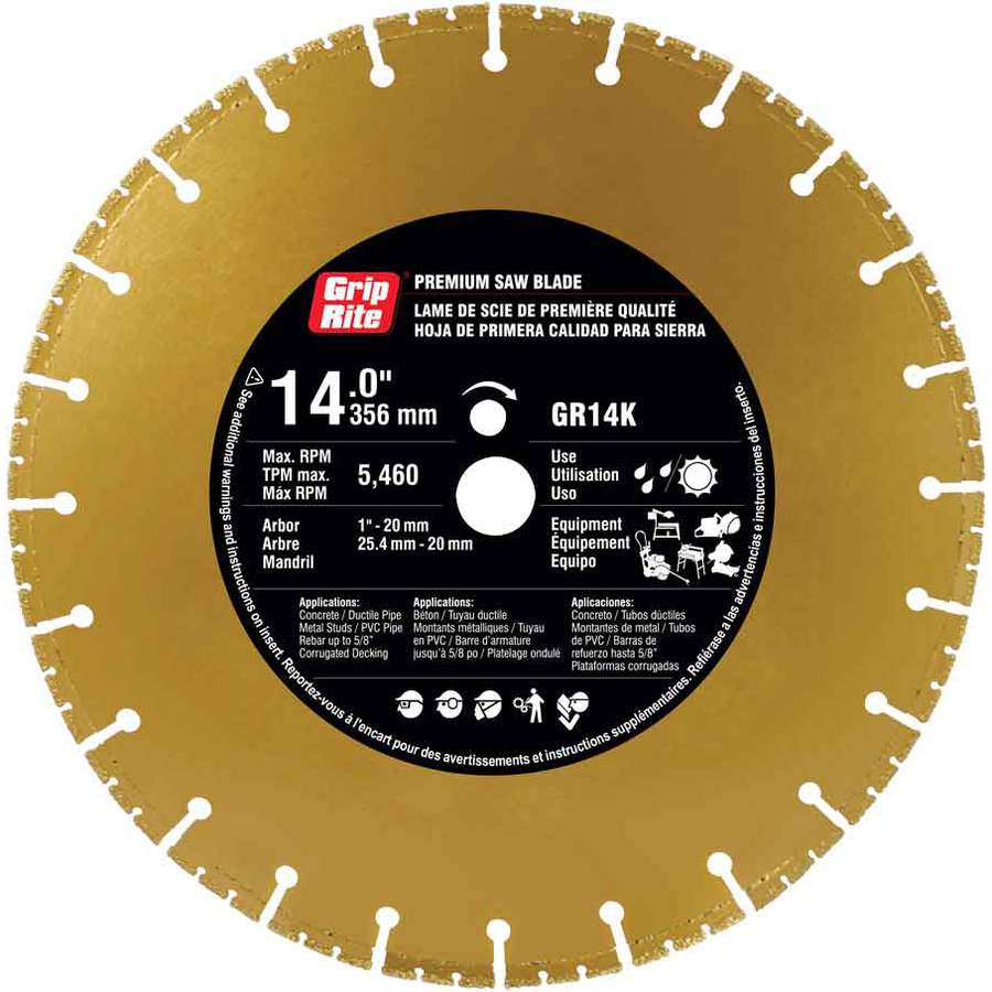 Grip-Rite 14-in Wet or Dry Segmented Diamond Circular Saw Blade