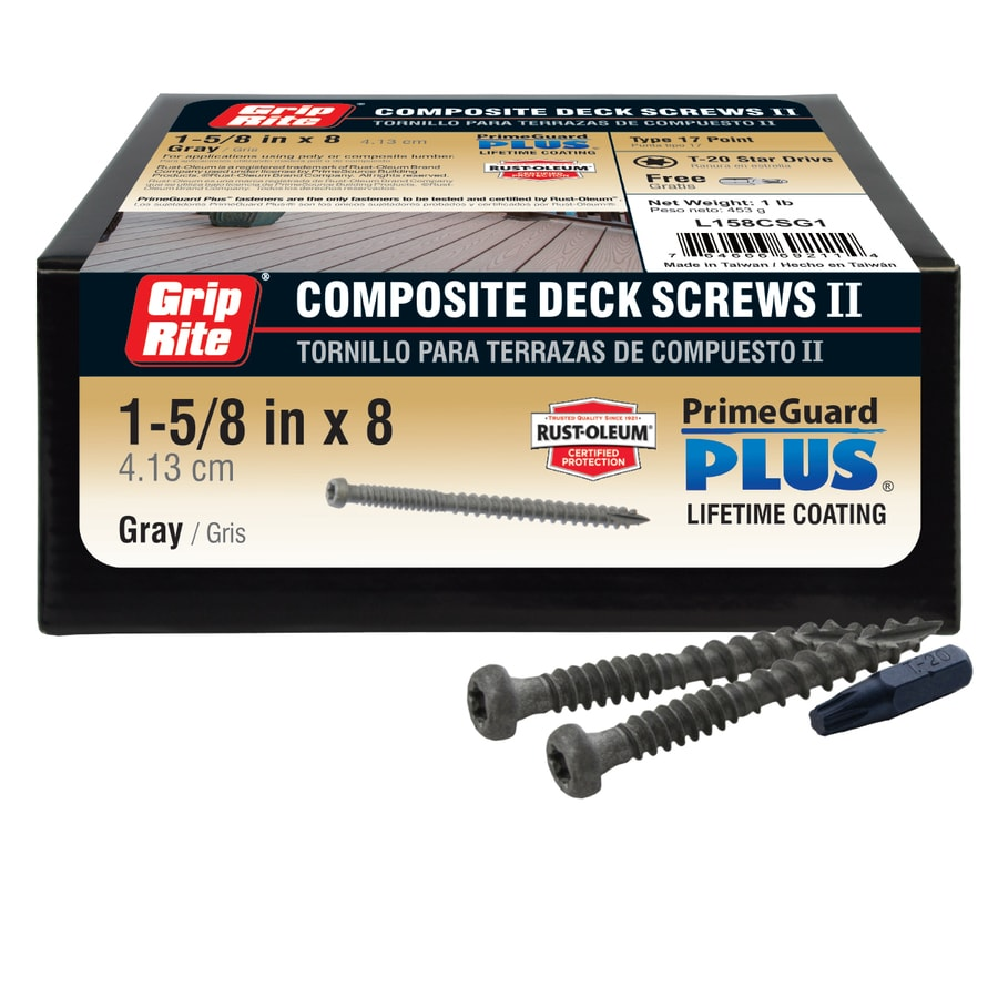 1-lb #8 x 1.625-in Pan-Head Polymer-Coated Star-Drive Deck Screws