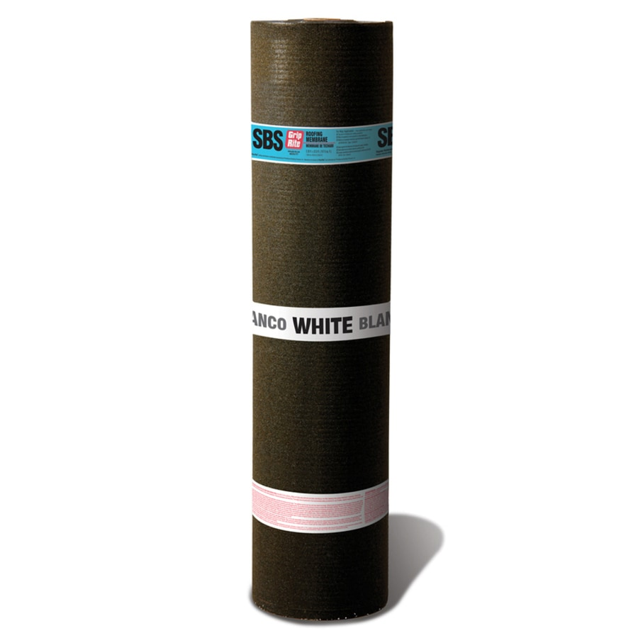 Grip-Rite 3.38-ft W x 32.8-ft L 100-sq ft White Roll Roofing