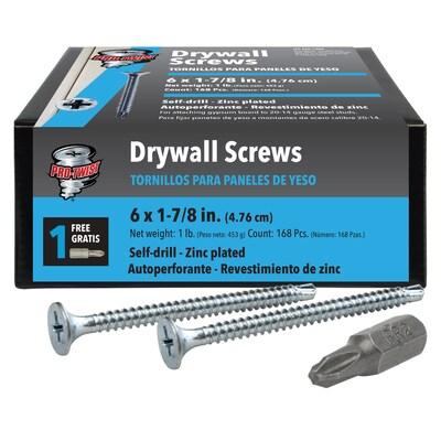 "CONSTRUCTOR #7x1 7//8/"" Self Drill Drywall Screws 1lb 5lb Bulk Zinc Plated"