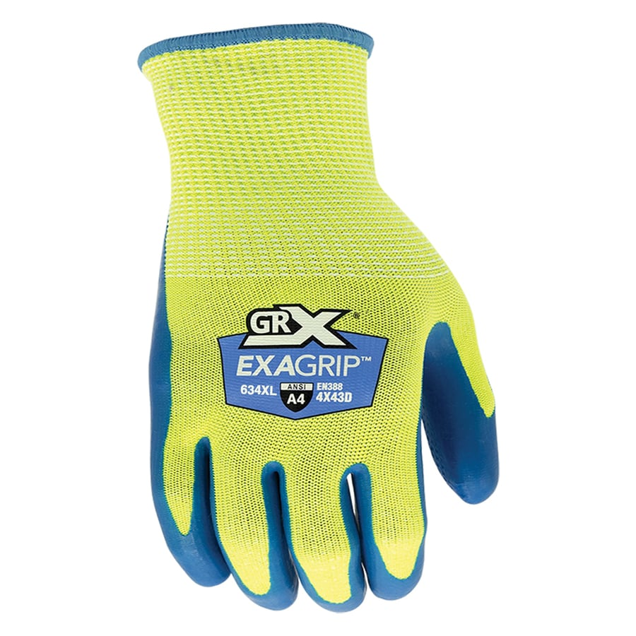 Grx Grx Men S Cut634 X Large Exagrip Cut Level 4 Work Glove In The Work Gloves Department At Lowes Com