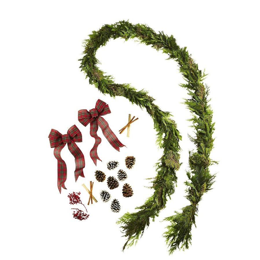 allen + roth 15-ft Fresh-Cut Noble Fir Garland