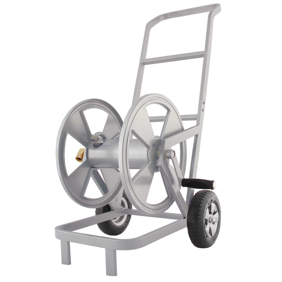 garden treasures steel 200 ft cart hose reel - Garden Hose Reel Cart