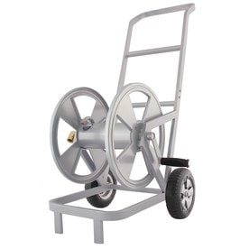 garden treasures steel 200ft cart hose reel