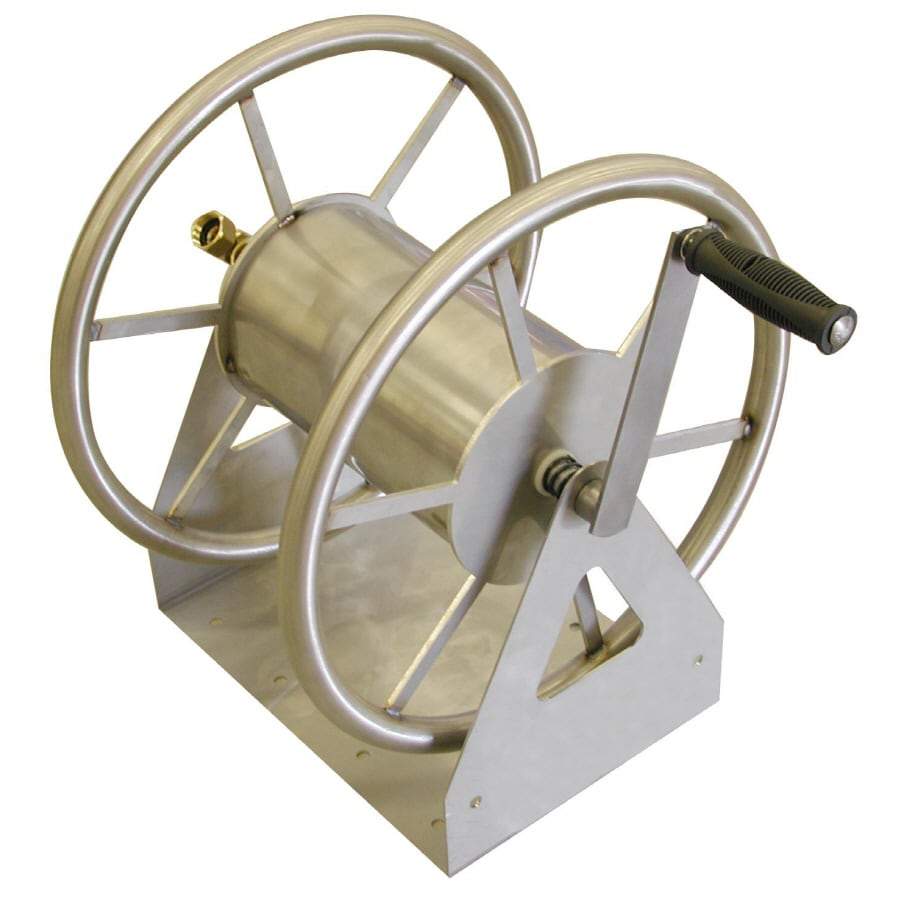 Liberty Garden Products Steel 5-ft Wall-Mount Hose Reel