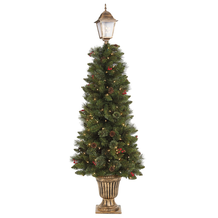 Holiday Living 6-ft 330-Count Pre-Lit Whimsical Slim Artificial Christmas Tree with Constant 150 Single Plug with White Clear Incandescent Lights
