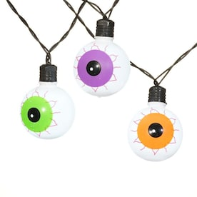 Holiday Living 20 Lt Battery Operated Halloween Haunted Flickering LED Multi Spooky Eyeball Light Set with Timer