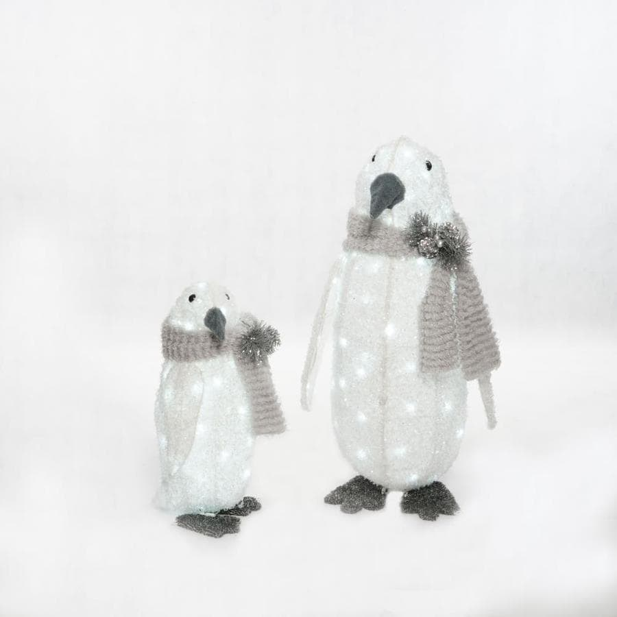 Holiday Living 4.58-ft Freestanding Penguin Sculpture with Twinkling White Incandescent Lights