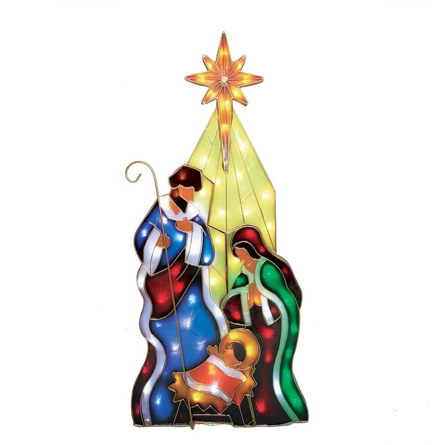 Holiday Living Holiday Living Pre-Lit Nativity Sculpture with Constant Multicolor LED Lights