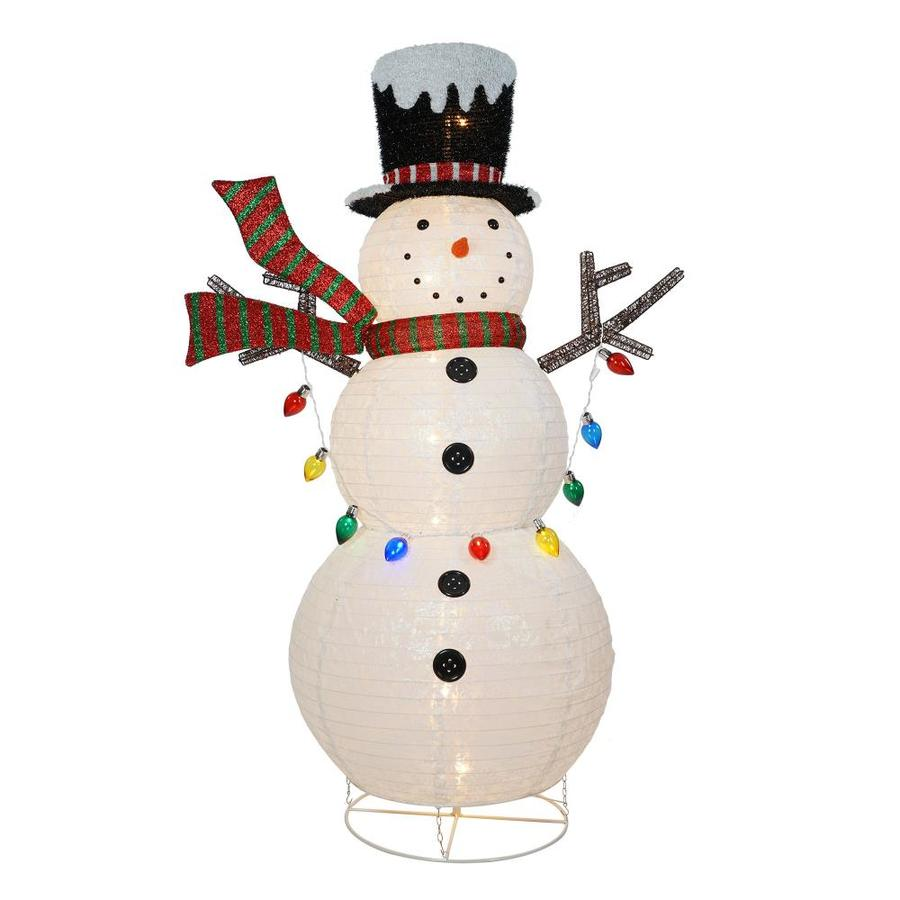 Holiday Living 72 In Snowman Sculpture With Clear
