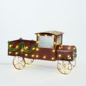 holiday living 25 in truck sculpture with clear led lights - Christmas Lighted Horse Carriage Outdoor Decoration