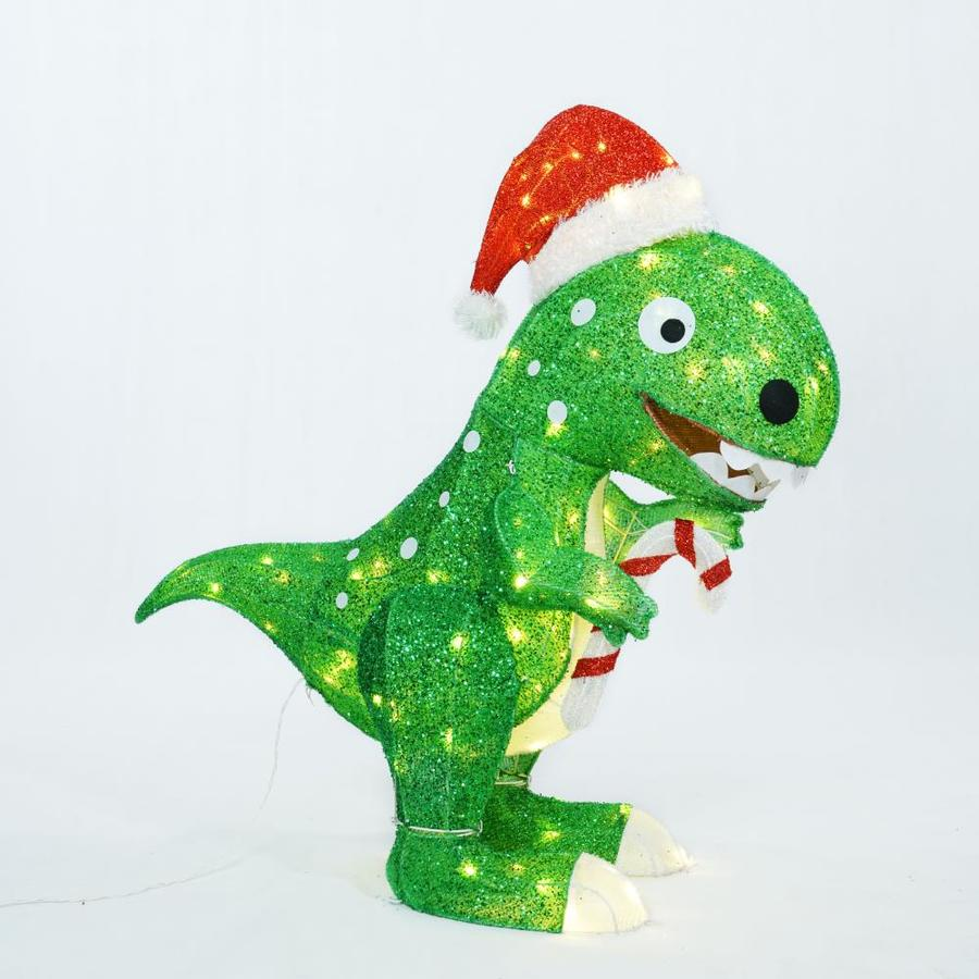 Holiday Living 42 In Dinosaur Sculpture With Clear Led Lights