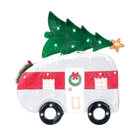 holiday living 31 in sculpture with multicolor led lights - Christmas Camper Decoration
