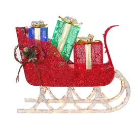 holiday living 40 in sleigh sculpture with clear led lights - Decorative Christmas Sleigh Sale