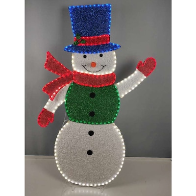 Details about  /Holiday Living 60-in Snowflake Light Display with Multicolor LED Lights
