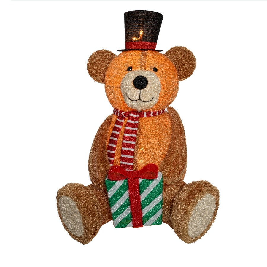 Holiday Living Pre-Lit Bear Sculpture Constant Cool LED Lights
