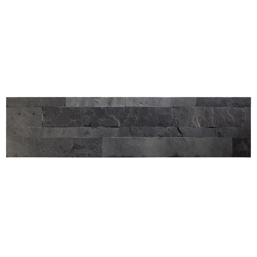 Aspect Stone 6 In X 24 Charcoal Slate Backsplash