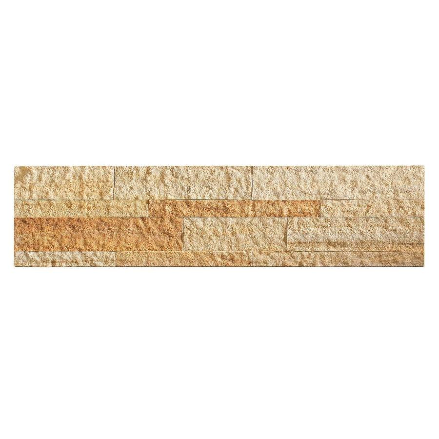 Aspect Stone 6-in x 24-in Golden Sandstone Stone Backsplash